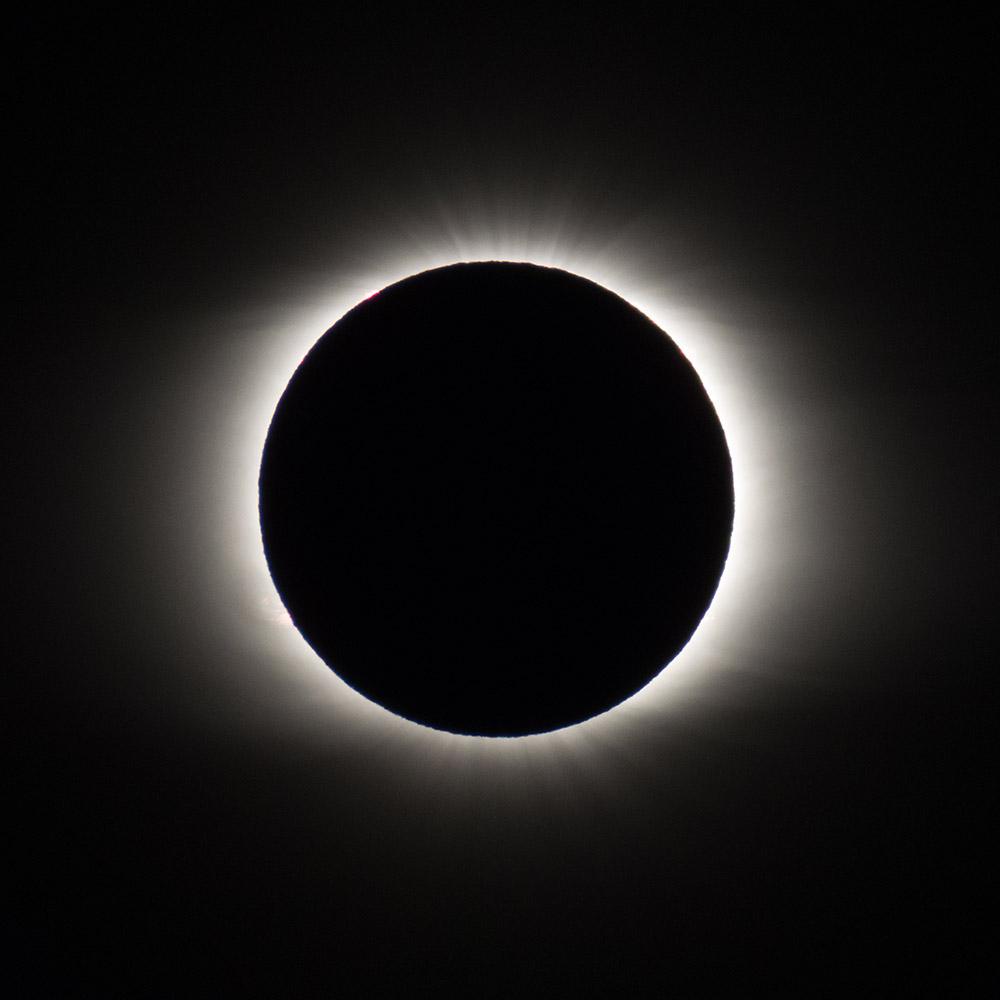 Полная фаза солнечного затмения, 2 июля 2019 г